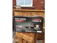 Brand new petrol chainsaw and oil