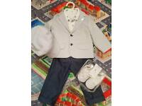 boys suit 6pcs set for 1 year boys for wedding, christening or any occasion.
