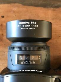 Mamiya 645 AF 80mm 1:2.8 for Mamiya AF AFD II III and Phase One 645DF DF+