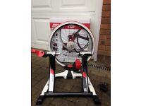 Elite Qubo Digital Smart B+ Turbo Trainer with wheel, tyre, cassette