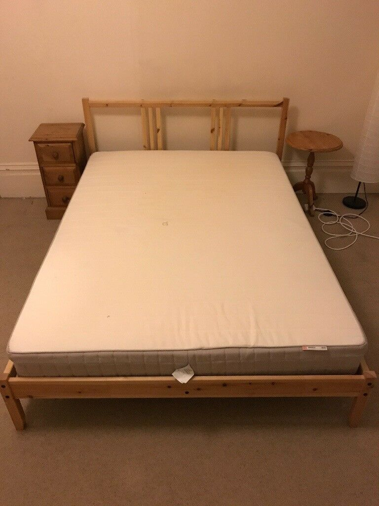 Double Bed with Pine Frame + Mattress