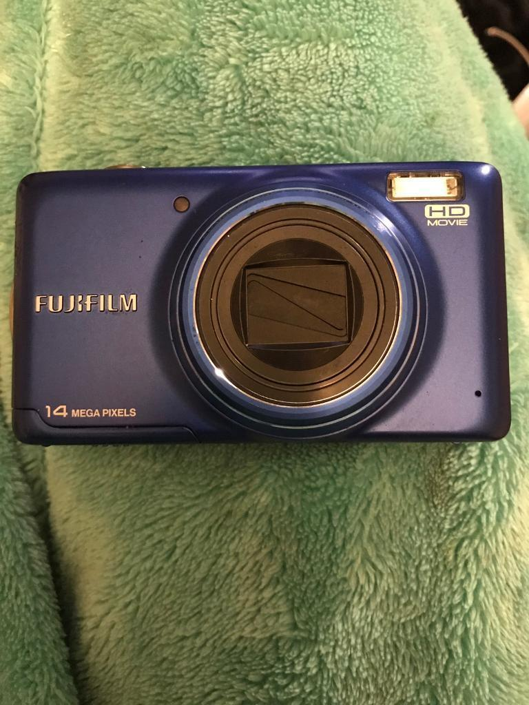 Blue Fuji film hd movie camera