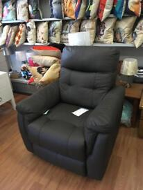 John Lewis new gun metal leather recliner Rrp £950