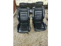 2 x front leather seats