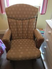 Dutailier gliding nursing chair and gliding footstool