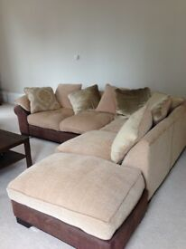3.5 seater corna sofa, 2 seater sofa and foot stool