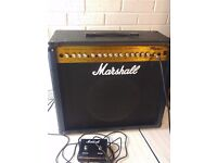 Marshall MG 100FX 2x12 100w Guitar Amplifier with foot pedal