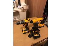 Dewalt cordlles and Hammer Drill+4 battery 5AH and 4AH+2 chargers