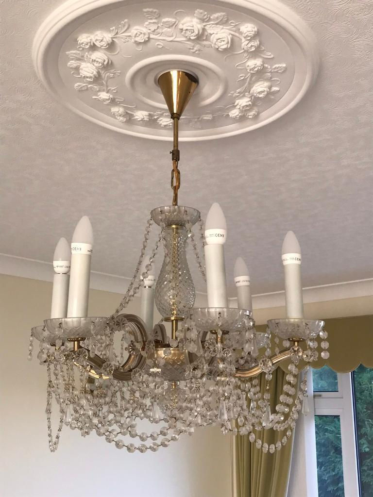 Chandelier in devon house lighting fixtures fittings for sale glass chandelier with four wall lights arubaitofo Gallery
