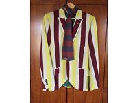 Jack Wills multicoloured blazer/ Jack Wills scarf