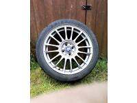 17 Inch Sparco Pista Matt Silver Tech Alloy Wheels (4x) For Sale