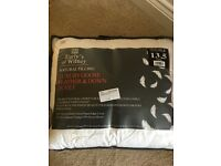 Goose and feather double duvet