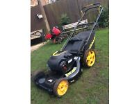 McCulloch m51-140wf self people's petrol lawnmower. Like new and serviced.