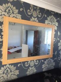 4ft by 3ft wooden mirror