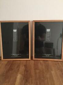 Cargo wooden picture frames x2