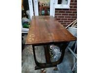 Beautiful solid wood dining table extendable