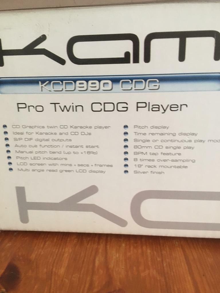 Kam kcd 990 CDG plus KAM audio pro 500 + JVC video CD player | in Derby,  Derbyshire | Gumtree