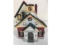 Village Collection Christmas Light-Up School, case of 6