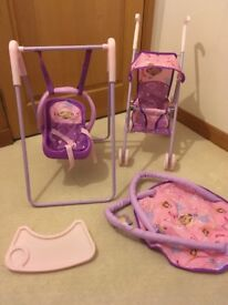 Princess Sofia 1st Play & Go Travel set high chair/ prom /