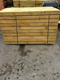 RAILWAY BEAMS SLEEPERS NEW 6FT LONG