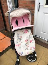 Customer made cosy toes for bugaboo