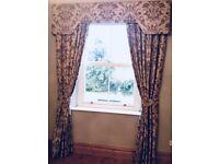 Curtains with pelmet harlequin fabric