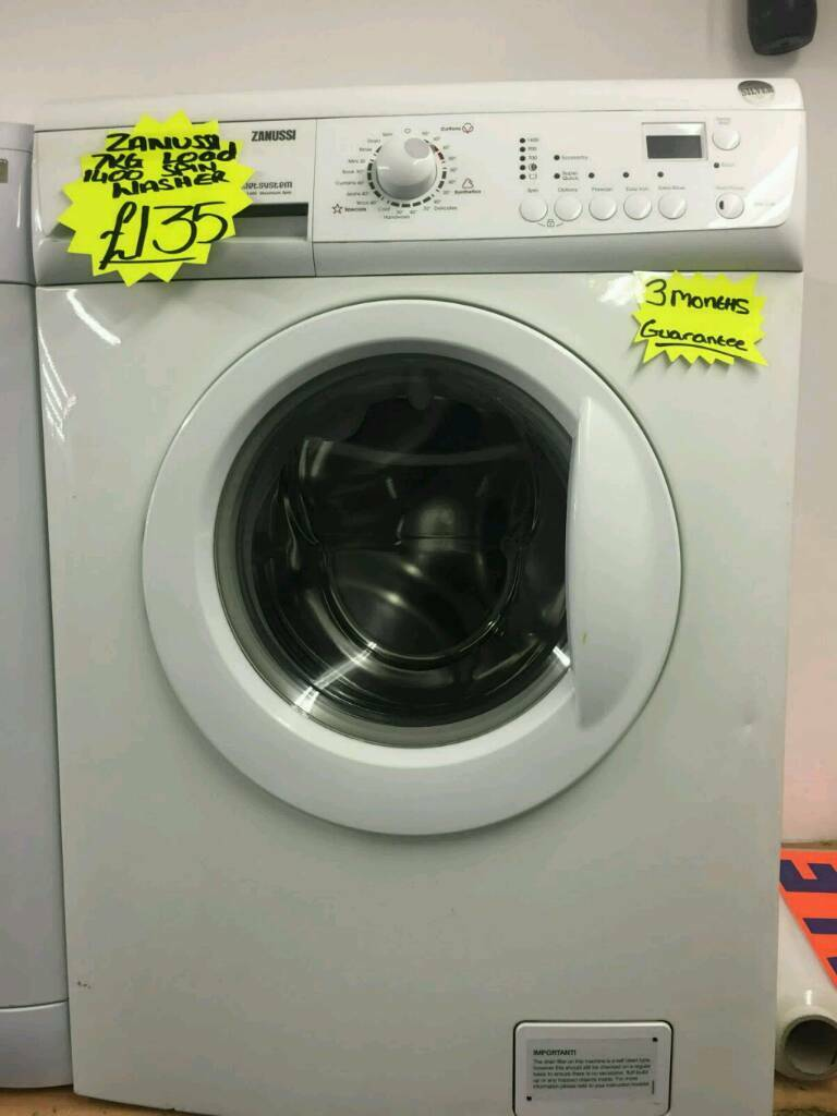 ZANUSSI 7KG 1400 SPIN WASHING MACHINE IN WHITE