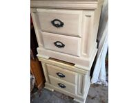2 bedside's unit with draw