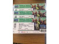 3 X final PDC darts world championship tickets