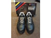 Black/grey steel toe safety boot trainers, marksmen size 12