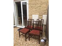 Antique Mahogany chairs set of 4