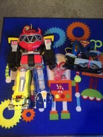 Imaginext power rangers and superman toys