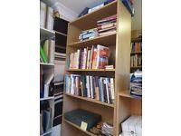 Tall bookshelf, wood effect, adjustable shelves
