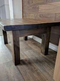Wooden table made out of reclaimed pine