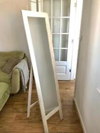 White Wash free standing Mirror