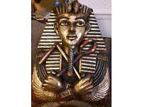 Clock Eygptian King Tutanhumun Very Large Clock