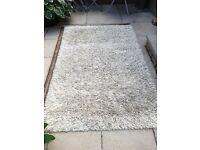 Cream wool - mohair rug