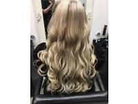 Hair extensions by Michaela