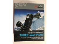 Go Pro compatible Three way Pivot