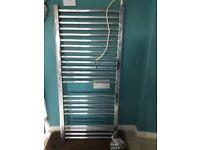 Chrome electric towel rail 1 m tall
