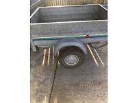 Clean 5 x 3 tilting trailer with jockey wheel