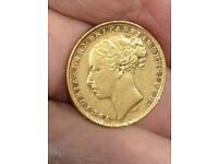 SOVEREIGN YOUNG HEAD 1882 M MINT