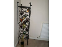 36 bottle ornate wine rack black metal exelent condition