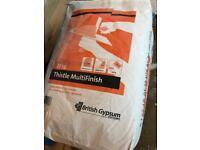 2x Multifinish plaster bags