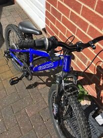 "Children's bike. Blue youth bike. 10"" frame and wheels. Approx age 5-8 suitable for a boy."