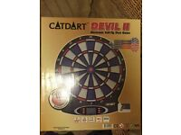 New Catdart 1-8 Player 18 Games Lcd Display Devil Ii Electronic Dartboard Set (New)