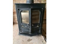 Charnwood wood burning fire with back boiler
