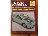 Toyota Corolla Manual