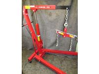 Engine Crane Hoist Folding Hydraulic (1 Ton) & Engine Leveler for Hire