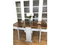 Vintage dining table free delivery Ldn shabby chic drop leaf